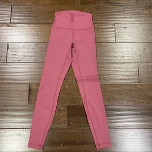 Pink lululemon leggings
